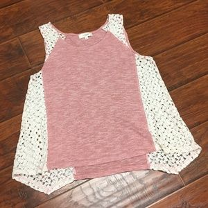 Umgee Pink Crochet Top